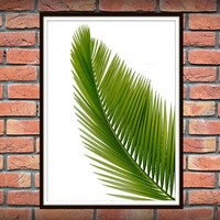 Tropical Leaf Print, Green Palm Art, Palm Art, Palm Leaves, Art Photo, Tropical Prints, Palm Leaf Prints, Tropical Decor, Green Decor *1*