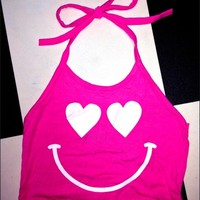 SWEET LORD O'MIGHTY! LOVESTRUCK HALTER TOP