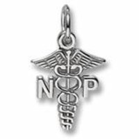 Nurse Practioner Charm In Sterling Silver