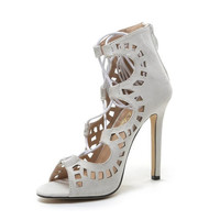 Sandals Lace up High Heels Cut Outs