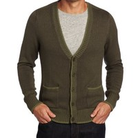 Alex Stevens Men's Chevron Cuff Cardigan