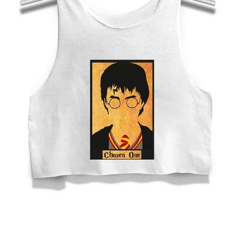 DCCKL83 Harry Potter the Chosen One Womens Crop Tank Top