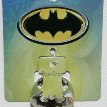 Licensed cool DC  Batman BAT LOGO Dark Knight Metal Costume Jewelry Ring Men's Size 7 SM