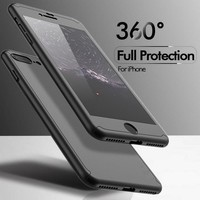 Luxury Case For iPhone 6 6S 7 Cases For iPhone 6 6S 7 Plus 360 Degree Cover Mobile Phone Accessories +Nano Film Screen Protector