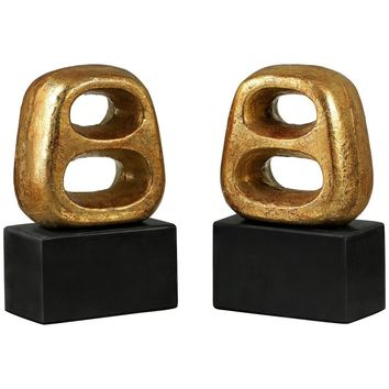 Delphi Bookends | Gold | Set of 2