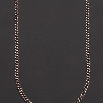 Oxidized sterling silver men's curb chain necklace chain