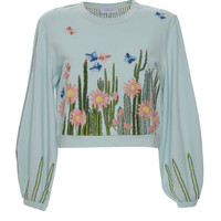 Embroidered Cotton Sweater | Moda Operandi