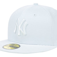 New York Yankees MLB White on White Fashion 59FIFTY Cap