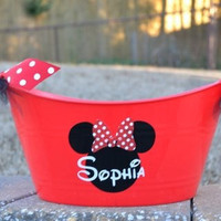 Red Minnie or Mickey Mouse bucket/ tub
