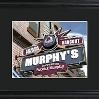NHL Pub Print in Wood Frame  - AVALANCHE