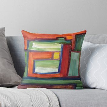 'Abstract Oil Painting' Throw Pillow by Maria Meester