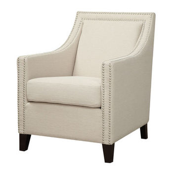 Emerald Home Furnishings Janelle Nailhead Arm Chair & Reviews | Wayfair