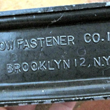 Vintage Stapler Industrial VERY LONG Marked Arrow Fastener Brooklyn NY Cool Piece