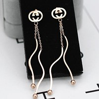 GUCCI New fashion tassel long short earring women accessories