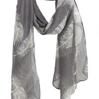 Feather Print Scarf - Multi