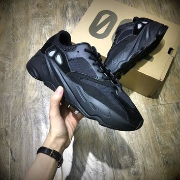 Kanye West X Adidas Yeezy Runner Boost 700 All Black Women S Men S Running Sports Shoes Sneakers - Ready Stock