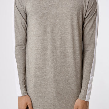 LS154 Under Armour Stripe Tee - Grey