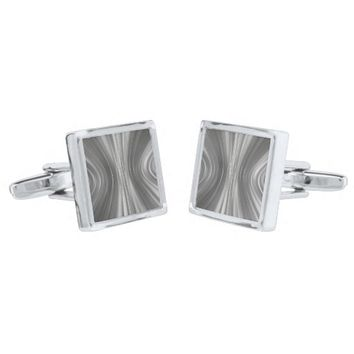 Gray Mist Driving Dreams Square Cufflinks