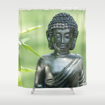 Find Buddha calm Shower Curtain by Tanja Riedel