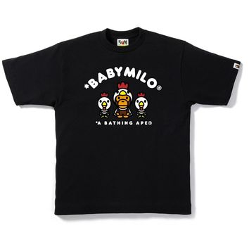 Bape Baby Milo Year Of the Rooster Tee- Black