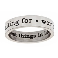 """Worth Waiting For"" Steel Ring - Purity Rings - Rings 