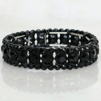 Crystalize Me Crystal Bracelet Black