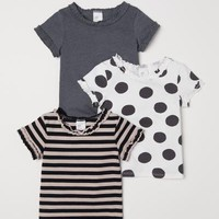 3-pack T-shirts - White/dotted - Kids | H&M US