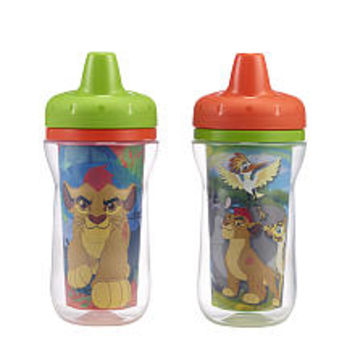 Disney Junior The Lion Guard 2 Pack 9 Ounce Insulated Sippy Cups - Green and Orange