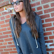 Kick It Back Hoodie {Gray}
