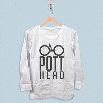 Long Sleeve T-shirt - Pott Head Harry Potter