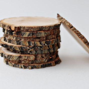 6 coasters, wood slices, wood coasters, reclaimed willow wood coasters, set of 6 coasters