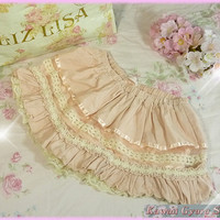 Liz Lisa Velvet Corduroy Lace Sukapan/Skirt-Shorts from Kawaii Gyaru Shop