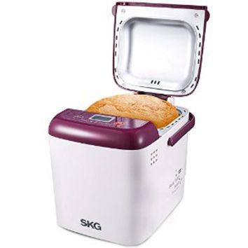 SKG Automatic 1-LB Mini Bread Maker - Beginner Friendly Programmable Breadmaker (19 Programs, 15 Hours Delay Timer, 1 Hour Keep Warm) - Gluten Free Whole Wheat Bread Machine