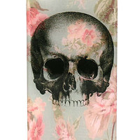 Vintage Floral Skull iPhone 4 4s Snap On Case Clear aztec mayan pattern sugar