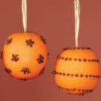 Clove Poked Orange Pomanders