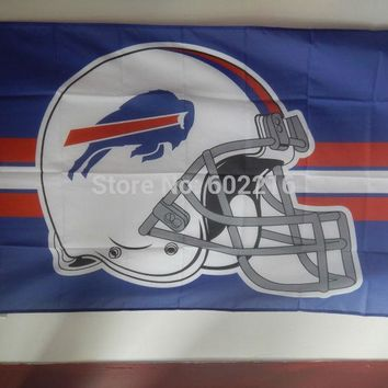 Buffalo Bills Helment Large Outdoor Team Flag 3ft x 5ft Football Hockey USA Flag