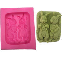 Bunny Lovers Silicone Soap Mold