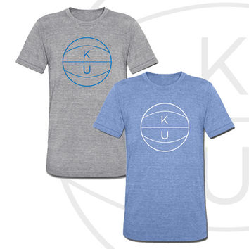 KU Basketball Premium Super Soft Unisex Shirt University of Kansas Jayhawks Tee