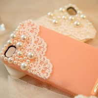 iPhone 5c Case, iphone 5s case, iphone 5c case, Lace iPhone 4 Case pearl iPhone 4 Case pearl iPhone 4s Case iPhone4 Cute iPhone 5 Case cover
