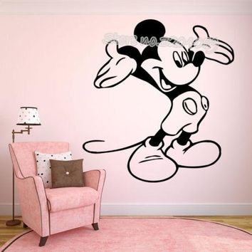 Cartoon Mickey Mouse Minnie Wall Sticker for kids rooms home decor baby Nursery Wall decal Vinyl Mural Pegatina de pared EA698