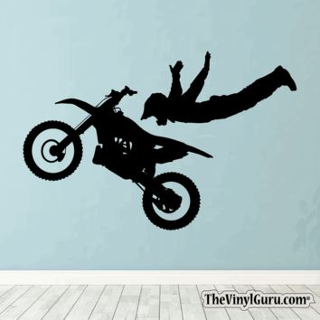Motocross Wall Decal - Dirt Bike Sticker #00007