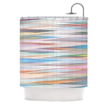"Mareike Boehmer ""Nordic Combination II"" Rainbow Abstract Shower Curtain - Outlet Item"
