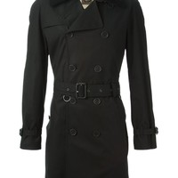 Burberry Brit shearling collar trench coat
