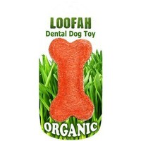 Loofah Bone Dog Toy - Large