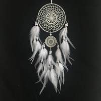 India Style Handmade Dream Catcher Circular Net With feather Hanging Decoration Decor Ornament Gift