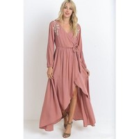 """Georgie"" Maxi Dress - Dusty Rose"