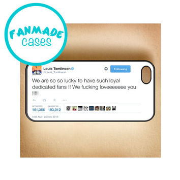 Dedicated Fans Tweet iPhone 4/4s/5/5s/5c/6/6 Plus, iPod 4/5, Samsung Galaxy s4/s5 Rubber Case by FanMadeCases