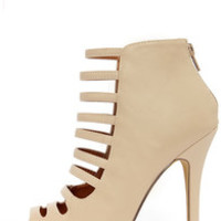Blair 1 Nude Caged High Heel Booties