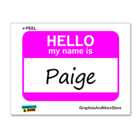 Paige Hello My Name Is Sticker