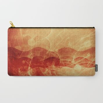 Energy Waves - Fire Version Carry-All Pouch by Adaralbion